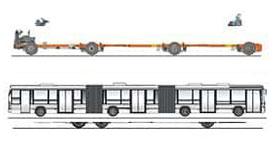 imagem chassi fh a 8x2 ônibus urbanos
