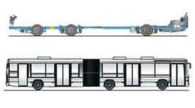 imagem chassi k ia 6x2x2 ônibus urbanos