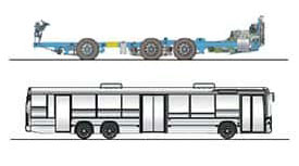 imagem chassi k ib 6x2x4 ônibus urbanos