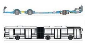 imagem chassi k ua 6x2x2 ônibus urbanos