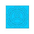 ícone mão de obra especializada e peças originais