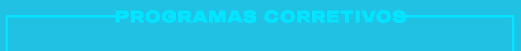 imagem texto programas corretivos