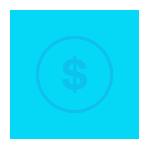 ícone redução nos custos de operação