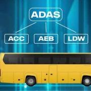imagem de vídeo scania no detalhe ônibus adas