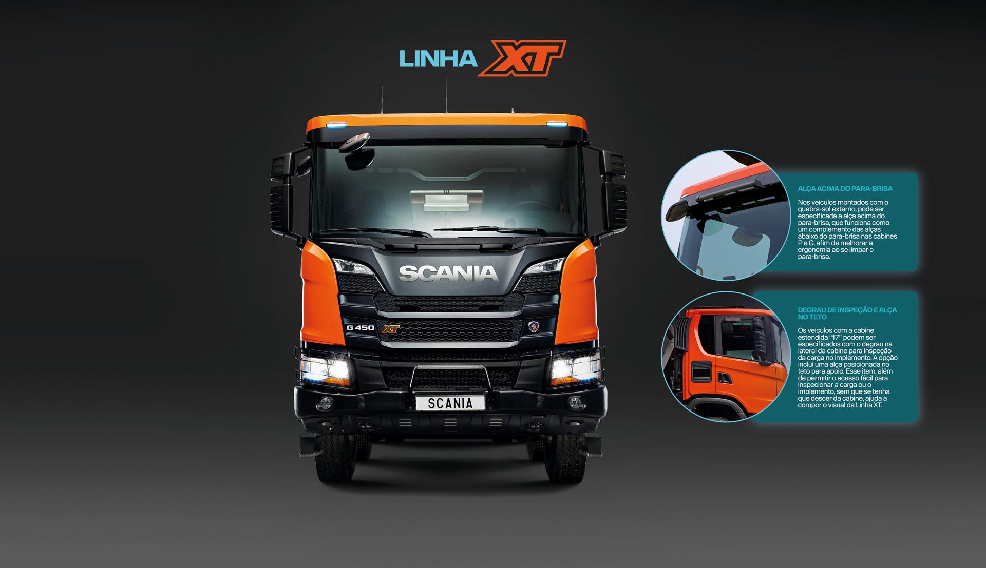 infográfico caminhão linha xt