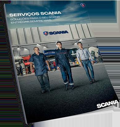 imagem folheto serviços scania