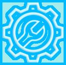 ícone completo portfólio de peças e serviços